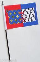 France Pays de la Loire Small Hand Waving Flag