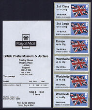 BPMA - !NEW! FLAGS DECEMBER 2013 ADGB13 SCARCE 2 DAYS ONLY Post & Go 6xNVI STRIP