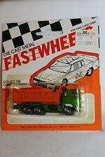 1970's Playart Fast Wheels, Leyland Dump Truck, Orange & Green,  New on Card