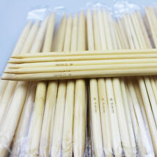 55Pcs 11sizes 5'' 13cm Double Pointed  Bamboo Knitting  Needles For Yarn Weave