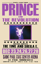 PRINCE REPLICA *PURPLE RAIN TOUR* 1984 CONCERT POSTER