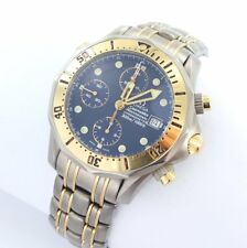 Omega Seamaster Chronograph Diver Men's Watch Titanium Steel/Gold