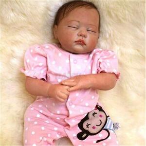 21.6'' Handmade Silicone Reborn Baby Doll Lifelike Newborn Girl Sleep Gift Toys