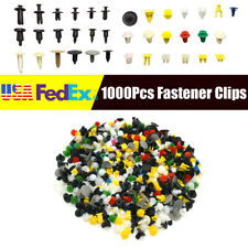1000X Plastic Rivets Fastener Push Clips for Car Auto Door Fender Panel US Stock