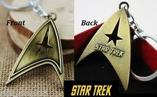 Star Trek Communicator Key chain Antique Bronze color Collectible gift decor