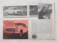 Peugeot 404 Original Road Test Article Removed from a Magazine