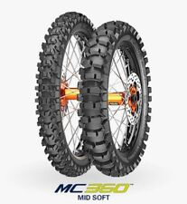COPPIA GOMME PNEUMATICI METZELER MC360 80/100 21 51M 110/100 18 64M  MID SOFT