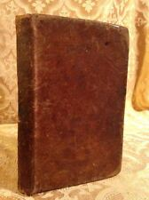 Antique Leather Latin and English Grammar Book Printed in Albany NY 1820 Rare!!!