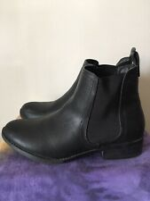 470b55480214 London Rebel Women s Black flat ankle boots