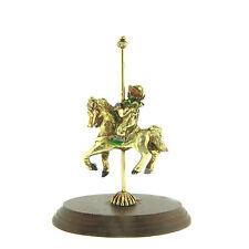 Brass Monkey Clown Carousel Horse 4.25