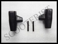 Lambretta LI GP SX TV DL Rubber Stand Feet Boot Fixing Pins Set Black