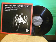THE MCLAIN FAMILY BAND IN CONCERT AT CARNEGIE HALL RECORD ALBUM 33-1/3