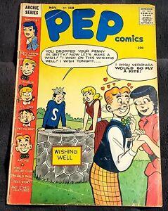 Pep Comics #118 (Nov 1956 Archie) G-VG Katy Keene GGA with Free Shipping
