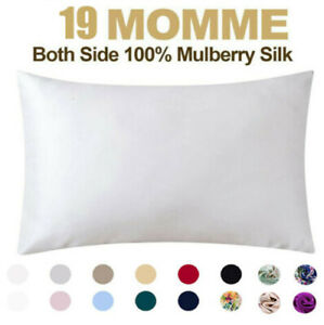 100% Pure Mulberry Silk Pillowcase 19 Momme Silk Pillow Cover for Hair and Skin