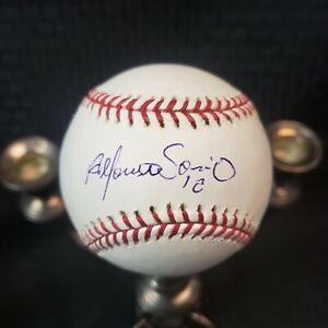Alfonso Soriano Signed OML Baseball Chicago Cubs New York Yankees