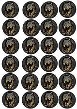 24 Muffin & Cupcake Aufleger  Oblate - Fondant  Dinosaurier C1