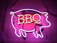 "Bbq Open Pig Pub Acrylic Neon Light Sign 14"" Glass Artwork Decor Wall Cave"