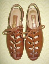 IPANEMA Cognac Brown Leather Gladiator Sandals Size 6.5 M