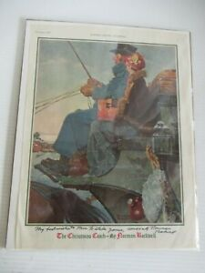 "NORMAN ROCKWELL SIGNED DEC 1930 ""THE CHRISTMAS COACH"" LADIES HOME JOURNAL w/ COA"