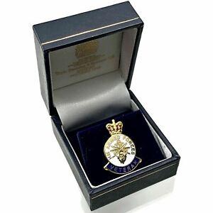 Original HM Armed Forces Veterans Lapel Badge & BOX British Army Medal - XF25