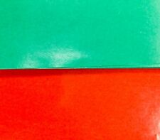 Colour Gloss A4 Paper Coated Red Green super smooth shiny glossy x 10 sheet