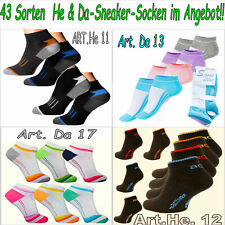 "Sneaker Socken Füßlinge Kurzsocken Damen Herren 3-40 Paar /""NEU/"""