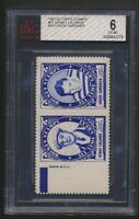 Rare Graded 1961-62 Topps Hockey Inserts Stamp Pairs  Lalonde & C.Gardiner Panel