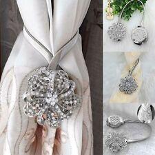 Strass Blumen Vorhang Raffhalter Magnet Raffhalter Clip Vorhang Binden Silber