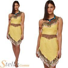 Ladies Pocahontas Costume Official Womens Disney Fancy Dress Native American