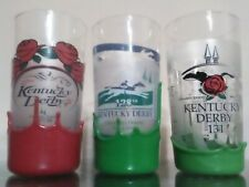 2001 2002 2005 Makers Mark Wax Kentucky Derby Glasses Bar Bottle Horse Racing