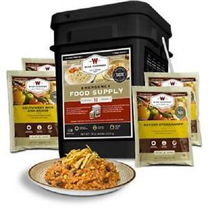 Emergency Food Supply Prepper Pack Sealed Survival Ration Bucket 52 Servings NEW