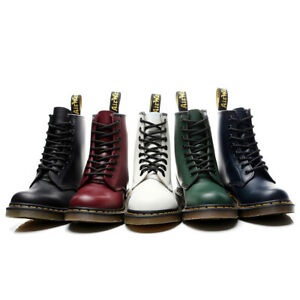 Unisex Dr. Martens 8 Lace Up Leather Martins Soft NAPPA 1460 Boots Shoes
