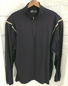 Nike Golf Fit-Dry Mens 1/4 Zip Pullover Shirt Burgundy Lightweight Stretch Large