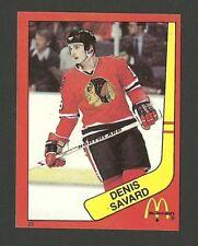 Denis Savard Chicago Blackhawks #23 1982-83 McDonald's Hockey Sticker NM/M