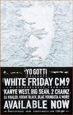 YO GOTTI White Friday CM9 2017 Ltd Ed RARE New Poster +FREE Rap/Hip-Hop Poster!