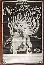 Affiche CHICAGO BLUES FESTIVAL 1989 Jazz Eddie Clearwater BUSTER BENTON...