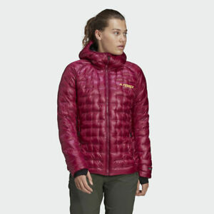 NEW ADIDAS WOMENS WINTER TERREX ICESKY HOODED DOWN JACKET OUTDOOR  SIZE S