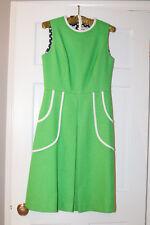 VINTAGE KELLY GREEN HEAR SAY POLYESTER DRESS WITH BELT - SIZE 12