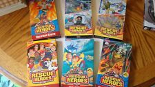 Fisher-Price Rescue Heroes VHS Six(6) Tape Lot Fire of Field/Electoral Storm