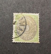 US Danish West Indies Stamp Scott#  8  Coat of Arms 1874-79  L106