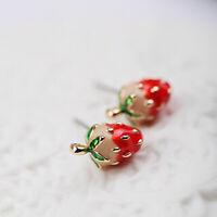 Betsey Enamel Studs Mini Girls Ear Earrings Strawberry Women Cute Stud Johnson