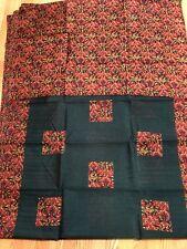 INDIA BHAGALPURI Art silk saree Rani Green FLORAL Unstitched Blouse USA SELLER