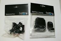 Lot of 2 Go Pro Mounts - Replacement Parts & Headstrap - NEW