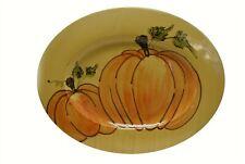 "Williams Sonoma Gold Orange Green Pumpkins Italy (19"" x 15.25"") NEW"