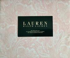 Lauren Ralph Lauren 3 Piece Twin Sheet Set Light Pink Paisley on White