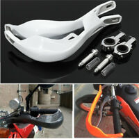 Universal 28mm Handlebar Handguard Hand Guard Motorcycle Pit Dirt Bike ATV White