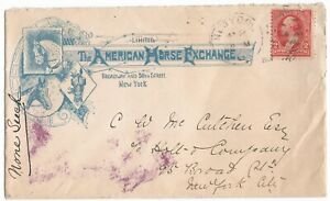 1902 AMERICAN HORSE EXCHANGE NEW YORK ILLUSTRATED COVER & LETTERS - VANDERBILT