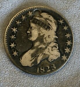1823 Silver Half Dollar (Holed)