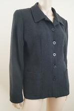 PAUL COSTELLOE IRELAND Charcoal Grey 100% Wool Lined Blazer Jacket UK12