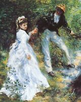 Pierre-Auguste Renoir The walk Art CANVAS Print Wall Decoration Poster Small